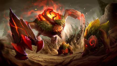 League of Legends: Red Brambleback by GisAlmeida