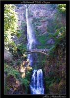 Multnomah Falls, Oregon Trail by allym007