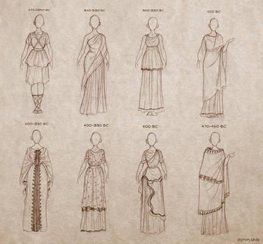 Ancient Greek Dresses by Ninidu