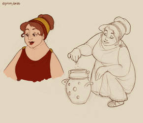 Hestia doodles by Ninidu