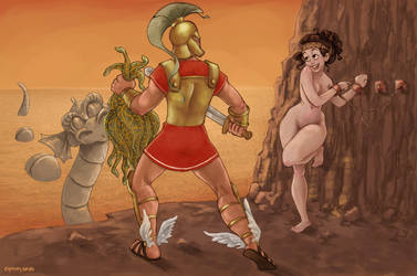 Mythology with a twist Perseus and Andromeda by Ninidu
