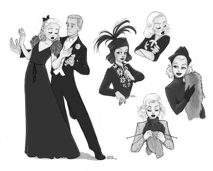 Classic Hollywood doodles no2 by Ninidu