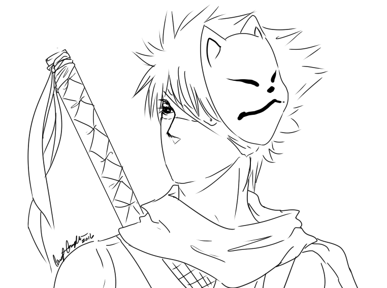 Kakashi Hatake Doodle Line Art By The Typical Toy Box On Deviantart