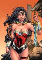 Wonder Woman sample colors by apalomaro