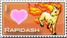 Rapidash Love Stamp by SquirtleStamps