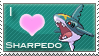 Sharpedo Love Stamp by SquirtleStamps