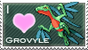 Grovyle Love Stamp by SquirtleStamps