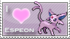 Espeon Love Stamp by SquirtleStamps
