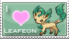 Leafeon Love Stamp by SquirtleStamps