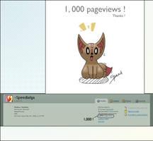 1,000 pageviews by Speedialga