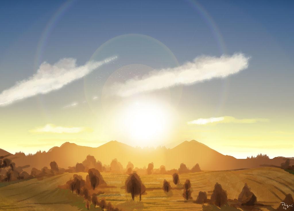 Sunset plains by Speedialga