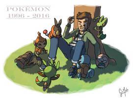 Pokemon 20th anniversary by Speedialga