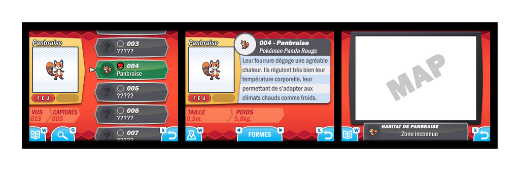 Pokemon Oxygen and Carbon Pokedex Interface by Speedialga