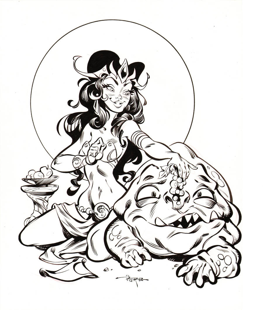 A Princess of Mars inks by 3nrique