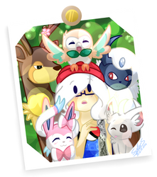 {Pokemon Digital-photo} Dream Poketeam by KodaConstellation