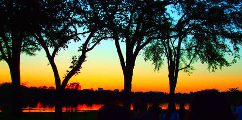 Sunset on the Potomac by Caro-is-blue