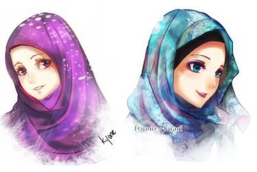 .:Hijab Girls:. by Kyone-Kuaci