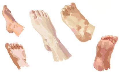 Foot Study by Aauburn