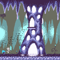 Pixel Purple Cave by TaoCesar