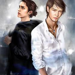 AttackonTitan/Eren and Jean by nurumayu35