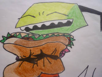 Zim loves Sandwiches by Invadermeh
