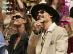 Johnny Depp and Justin Bieber by Wilhelmine