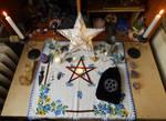 Imbolc Altar 2017 by Wilhelmine