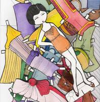 Marjorie Paper Doll by EllaGuru