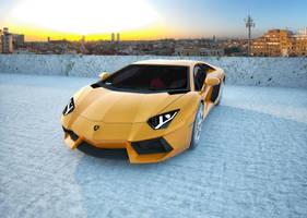 Lamborghini Aventador by prodesignsgfx