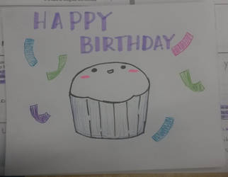 Birthday card: Cupcake with Confetti :) by mayfuyu