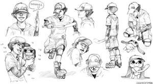 [Paranoia Agent] Shounen Bat/Lil' Slugger Sketch. by cacogenic