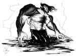 Logan Wading in Blood by WadeFurlong