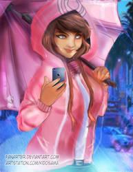 Pink Girl by fanartbr