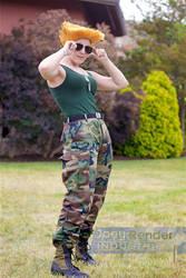 guile street fighter genderbend cosplay by ZeeKayArt