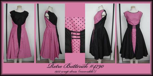 1952 reversible wrap dress by Idzit