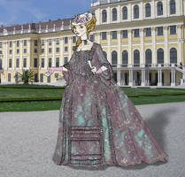 Purple Francaise gown 1770-5 by Idzit