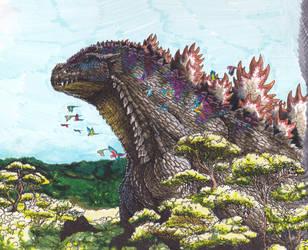 Godzilla III by SuperSaiyanGod-Zilla