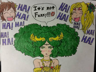 Palutena's revolting hair day. by dcb2art