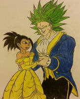 Kale and Broly: Beauty and the Legendary Beast. by dcb2art