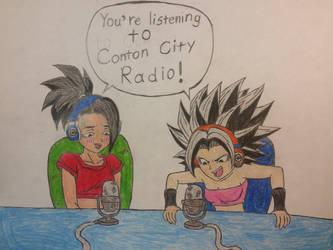 Caulifla and Kale: Conton City Radio Hosts. by dcb2art