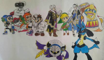 Tournament Of Smash: Team Lucario by dcb2art