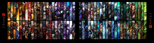 DOTA2 Hero Wallpaper v2 3840x1080 [Dual Monitors] by ImKB