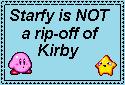 Starfy and Kirby stamp by Miruthekirby