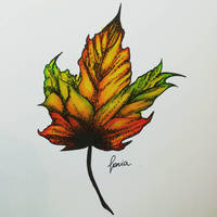Inktober Day 28: Fall  by schnoia