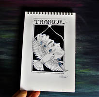 Inktober Day 2: TRANQUIL by schnoia