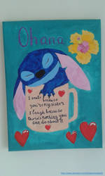 Stitch in a quote mug canvas by BlueGamerCatLady01