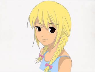 Braided manga girl, by Zefic