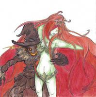Scarecrow X Poison Ivy by harleyquinnxguason