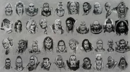 Horus Heresy Characters by slaine69