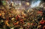 Goblin/Dwarf Battle by slaine69